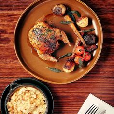 For a warmer palette try our soil collection in a rustic setting.  @TheWoodhousebgos wood oven roasted poussin looks divine on our soil plate - what beautiful creations have you plated on Glenn Tebble Homewares?  Share & tag #GTHomewares! by gthomewares