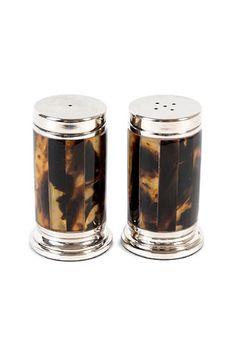 Ralph Lauren Tortoiseshell Salt and Pepper Shaker Set