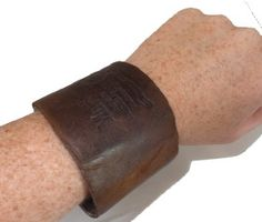 How to make Wrist Cuff - Recycled Leather - DIY Craft Project from Craftbits.com