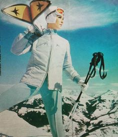 Tips forward - that's the way real skiers carry their skis.