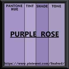 PANTONE SEASONAL COLOR SWATCH PURPLE ROSE
