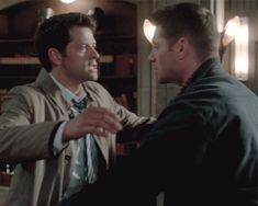 "Supernatural. season 12. ""keep calm and carry on."" dean and Cas hug. Destiel."