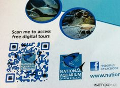NATIONAL AQUARIUM OF NZ QR Code Signage