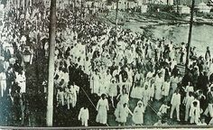 Festa de Iemanjá. Procissão no Rio Vermelho em 1917