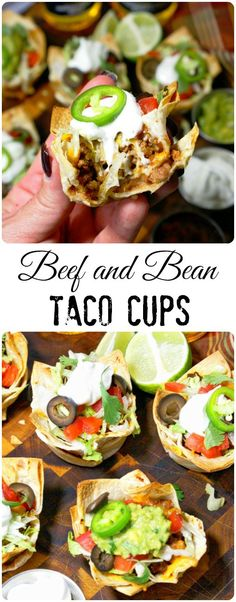 Taco cups are a great twist on the typical taco.