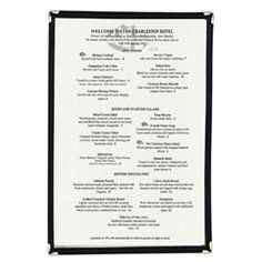 update mcl 1bk single menu cover 9x14 legal size - How To Write A Resume For High School Students