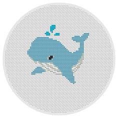 Whale cross stitch pattern Nautical cross stitch patterns