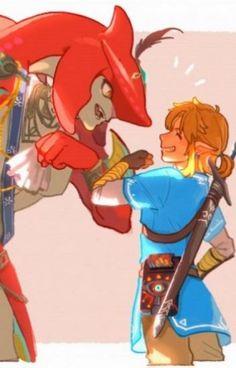 Sidon x Link Oneshots - endless_eggos - Wattpad Sidon Zelda, Prince Sidon, Shark Man, Link Art, Legend Of Zelda Breath, Breath Of The Wild, Ship Art, Video Game Art, Art Inspo
