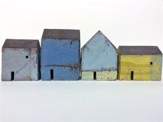 Set of Ceramic Houses - Yellow