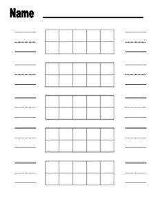 Double Ten Frame Math Worksheet Double Frames  Digit Nu  First