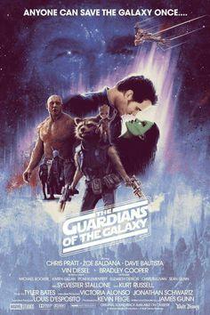 Gorgeous Guardians poster art ala Empire Strikes Back by artist Matt Ferguson