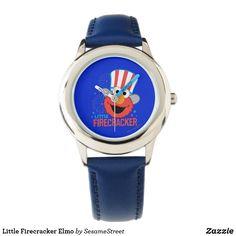 Shop Little Firecracker Elmo Watch created by SesameStreet. Elmo Sesame Street, Presents For Kids, Firecracker, Telling Time, Kids Shows, Kid Names, Stainless Steel Watch, Fourth Of July, Cool Gifts
