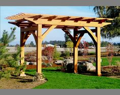 Pergola Old World Traditional Joinery Mortise & by PacificPergola. $3,000.00, via Etsy.  Would LOVE to have this for my back yard!!!  :/