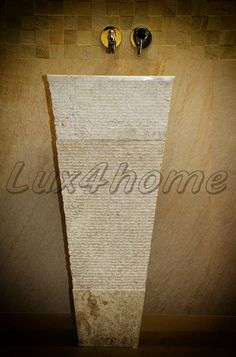 Stone sink Lux4home™, Model: CRL142 Marble Cream. http://www.Lux4home.pl