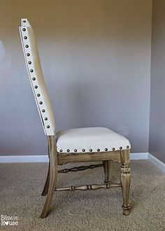 Repurposed Furniture Chair No Sew 65 Ideas For 2019 French Dining Chairs, Upholstered Dining Chairs, Dining Room Chairs, Kitchen Chairs, Office Chairs, Diy Kitchen, Painted Dining Chairs, Ikea Chairs, Bag Chairs