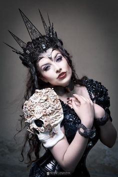A talented deviant from the deviantART community. Love this shot - stylishly enchanting.  The Mask of Death by la-esmeralda.deviantart.com