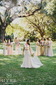 Southern wedding | Sparkly bridesmaid dresses | Legare Waring House, Charleston SC | Event planning by Loluma | Photography by Hyer Images