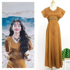 Feeling lavish and extravagant? Be like Jang Man Wol, the CEO of Hotel Del Luna, who loves fancy things just like this dress. Get this latest item inspired from newest Korean Drama Hotel Del Luna to complete your posh look! Luna Fashion, Kpop Fashion, Fashion Outfits, Vintage Dresses, Nice Dresses, Mode Kawaii, Korean Fashion Trends, Kpop Outfits, Boho