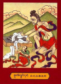 Mahasiddha Dhubipa......Dombipa  Dombipāda (dom bhi he ru ka)  He of the Washer Folk