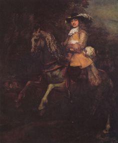 Rembrandt Harmensz. van Rijn: Porträt des Frederick Rihel mit Pferd - Gemeinfrei
