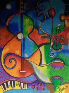 Pastel art - Music Music Painting, Art Music, Awesome Art, Cool Art, High School Art, High Art, Pastel Art, Art Lessons, Pastels
