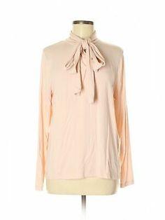 J. Crew Women Pink Long Sleeve Silk Top Lg  | eBay Foxy Brown, Broken Zipper, Bow Tops, Beige Sweater, Vintage Cotton, Silk Top, V Neck Tee, Ruffle Blouse, Long Sleeve