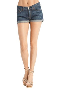 Low-rise rolled cut-off shorts! Definitely a staple for the summer season.  Available at Bliss for $170! #jbrand