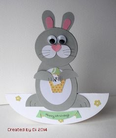 Egg-static Easter Bunny by DiHere - Cards and Paper Crafts at Splitcoaststampers
