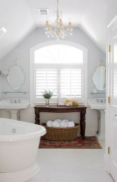 rustic and white bathroom