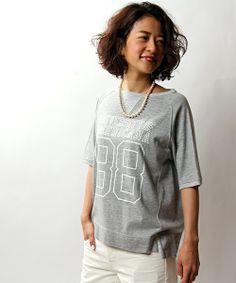 FREAK'S STORE WOMENS(フリークスストアウィメンズ)のAmericana/アメリカーナ 別注PRINT TEE                   (Tシャツ・カットソー)|グレー