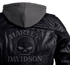 harley davidson skull clothing photos | Ladies Harley-Davidson Reflective Skull 3-in-1 Leather Jacket 98152 ...