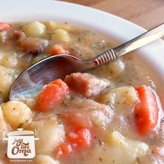 ❤️ Easy Potato Soup Recipe -- a traditional German favorite made just like Oma! Cabbage Soup Recipes, Lentil Soup Recipes, Pork Chop Recipes, Sauerkraut Soup Recipe, Homemade Potato Soup, Easy Vegetable Recipes, Beef And Noodles, Egg Noodles, Baked Pork Chops