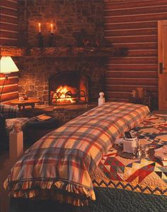 Warm, inviting & cozy... My misses lives the #fireplace.     #dream bedroom, #isagenix will bring
