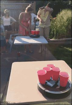 Roomba beer pong is an absolute game changer!!!
