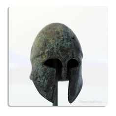 Ancient Greek Corinthian Helmet in Bronze by piscesandfishes @piscesandfishes @Sun San #art #sculpture #ancient #greece