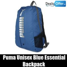 Puma Unisex Blue Essential Backpack @ 30% Off