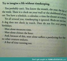Life without timekeeping