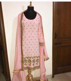 whatsapp on to order this. Embroidery Suits Punjabi, Embroidery Suits Design, Embroidery Designs, Indian Suits, Indian Attire, Indian Dresses, Indian Wear, Red Lehenga, Lehenga Choli