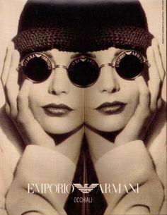420dfeba49a Emporio Armani 90s Vintage Sunglasses Fashion Marketing