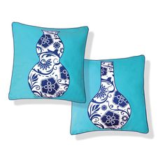 Naked Decor » BLUE VASES PILLOW