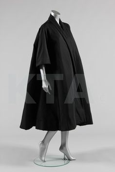 Tent Coat 1950's, American, Made of faille
