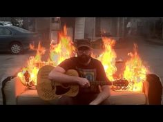 ProvoShows (http://provoshows.com/) - a visual archive of creative endeavors (mostly musical) in/around the city of Provo, Utah. YouTube Video: Playing Guitar on a Flaming Couch - Drew Danburry