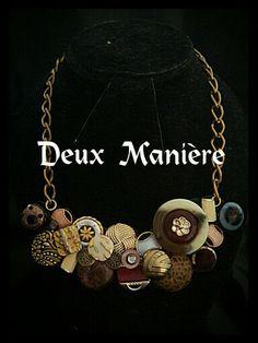 Vintage Necklace bottons-gold. Consiguelo por Deuxmaniere@gmail.com