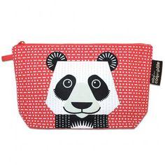 Trousse coton bio by Mibo pour Coq en Pâte Pencil case with panda designed by Mibo for Coq en Pâte #pencilcase #trousse #saveourspecies #sos #mibo #panda
