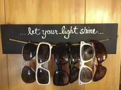 Storage Craft Ideas for Small Spaces-This would be a great idea for all of the kids' sunglasses!
