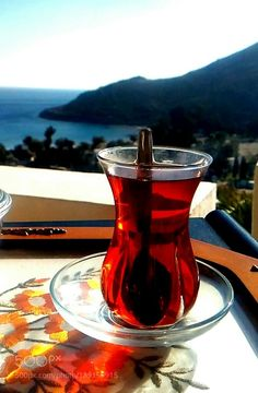 Tea time by recep Hurricane Glass, Wine Decanter, Tea Time, Tea Cups, Coffee, Tableware, Instagram, Beautiful Places, Relax