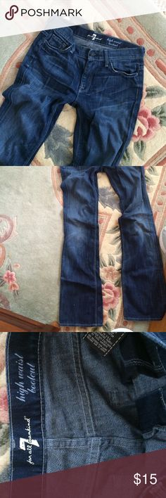 7 Jeans Dark wash, in overall good condition 7 jeans! Cover photo slightly different 😊🎉 7 For All Mankind Jeans Boot Cut