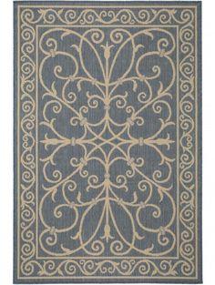 Flachgewebe Teppich Dawn Royal Blau
