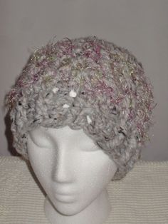 Crochet hat cap chemo soft handmade fuscha fluff fur band fall winter woman  girl  fashion  clothing  shoes  accessories  womensaccessories  hats (ebay  link) a51a23755