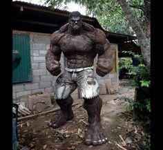 【リアル!】タイの金属加工工場で作られたハルクが完成度高すぎ http://news.livedoor.com/article/detail/9353020/…  廃棄金属を利用したアート作品だそうだ